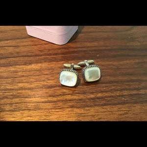 Konstantino Mother of Pearl Sterling Cufflinks